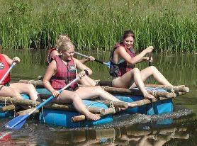 kickbiking and rafting
